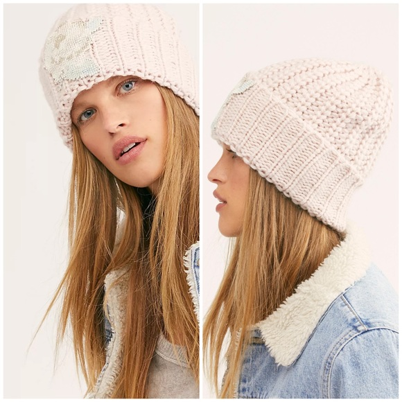 Free People Everything Rosy Beanie Thick Knit